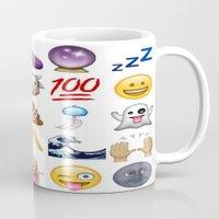 emoji Mugs featuring Emoji  by Life.png