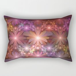 Bed Of Flowers Abstract, Fractal Art Rectangular Pillow