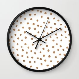 Goldie Dots Wall Clock