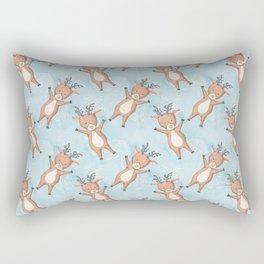 Brown Deer On A Blue Background Rectangular Pillow