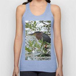Green Heron at Lakeside Unisex Tank Top