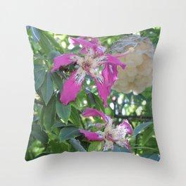 Silk Floss Tree Blossom & Fluff Throw Pillow