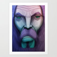 old wizard Art Print