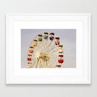 ferris wheel Framed Art Prints featuring Ferris Wheel by Elsa Harley
