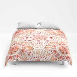 WARRIOR FIRE Watercolor Mandala Comforters