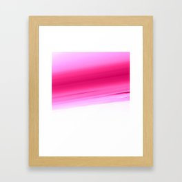 Pink White Smooth Ombre Framed Art Print