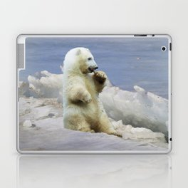 Cute Polar Bear Cub & Arctic Ice Laptop & iPad Skin