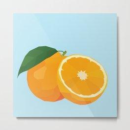 Geo Orange Metal Print