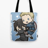 stucky Tote Bags featuring Stucky On You by DeanDraws