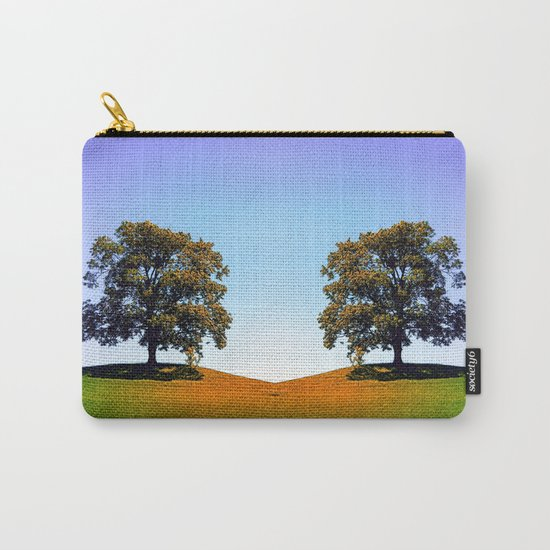 Posing tree on a hill in summertime Carry-All Pouch