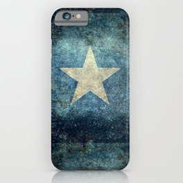 Somalian national flag - Vintage version iPhone Case