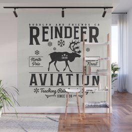 Reindeer Aviation - Christmas Wall Mural
