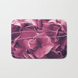 A Sea of Purple Pink Hydrangea Blossoms #1 #floral #art #society6 Bath Mat