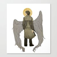 castiel Canvas Prints featuring Castiel by Cesca Summers