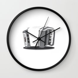 Accordion Musical Instrument Wall Clock