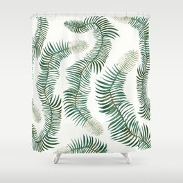 tropical leves wild Shower Curtain