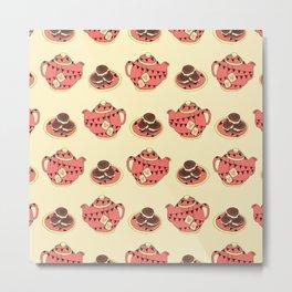 Bunting Tea & Biscuits Metal Print