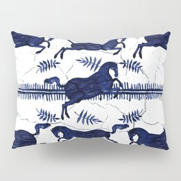 Ancient Greek Fresco - Navy Pillow Sham