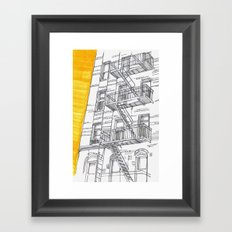 City House Framed Art Print