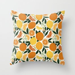 Fresh Citrus Fruits Pattern Throw Pillow