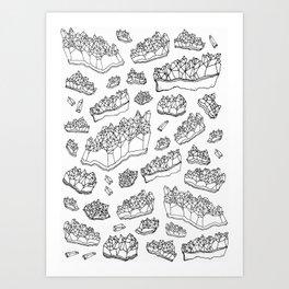 White Amethyst Art Print