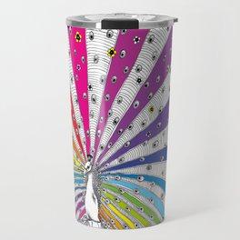 Rainbow-Peacock Travel Mug