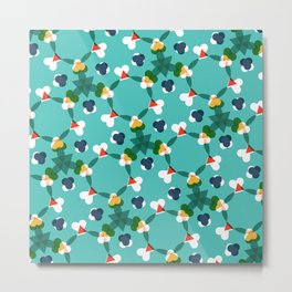 Kaleidoscope aqua Metal Print