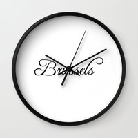 brussels Wall Clocks featuring Brussels by Blocks & Boroughs