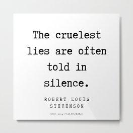 10    Robert Louis Stevenson Quotes   200113 Metal Print