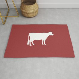 Cow: Barn Red Rug