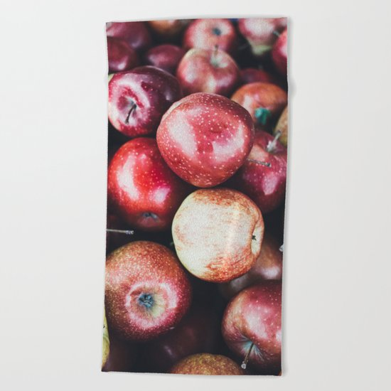 Red Apples Beach Towel