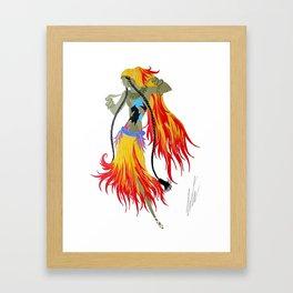 "1920's Art Deco Illustration ""Gypsy Dancer"" Framed Art Print"