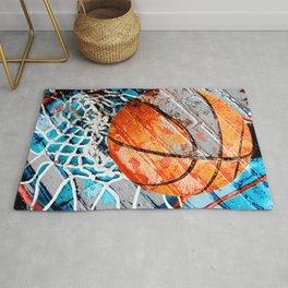 Modern basketball art 3 Rug