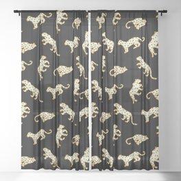 Leopard at Night Sheer Curtain