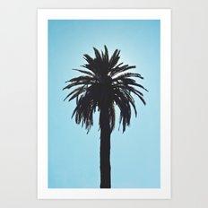 Palm Tree Silhouette Art Print