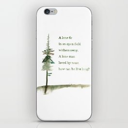 A Viking Proverb - Fir Tree iPhone Skin
