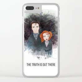 Mulder & Scully Clear iPhone Case