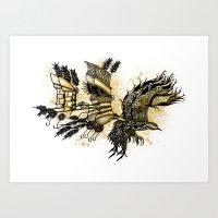Mechanical DaVinci Bird Art Print