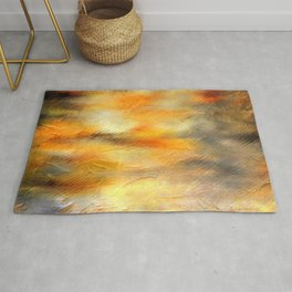 Color burst - Yellow Flowers Rug