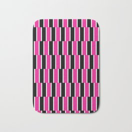 Shifted Illusions - Black and Pink Bath Mat
