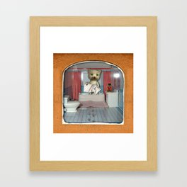 Cat Bath Framed Art Print
