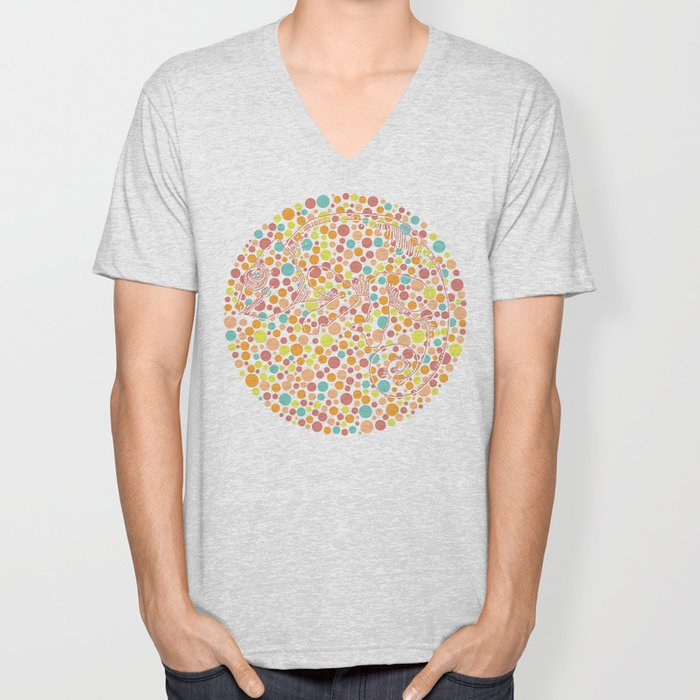 Color blind Unisex V-Neck