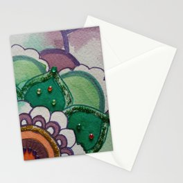 Fleur de la vie mandala violet Stationery Cards