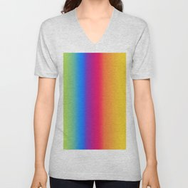 Ombre Bright Colors 1 Reversed Unisex V-Neck
