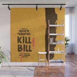 Kill Bill, Quentin Tarantino, minimal movie poster,  Uma Thurman, Lucy Liu, alternative film Wall Mural