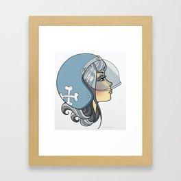 Moto Girl Framed Art Print