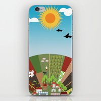 farm iPhone & iPod Skins featuring Farm by Design4u Studio