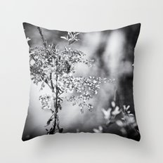 Grunge Film Noir Dried Plants Nature Image Throw Pillow