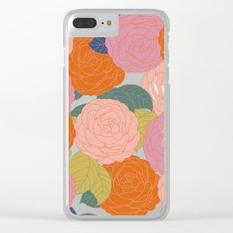 Flowers In Full Bloom Clear iPhone Case