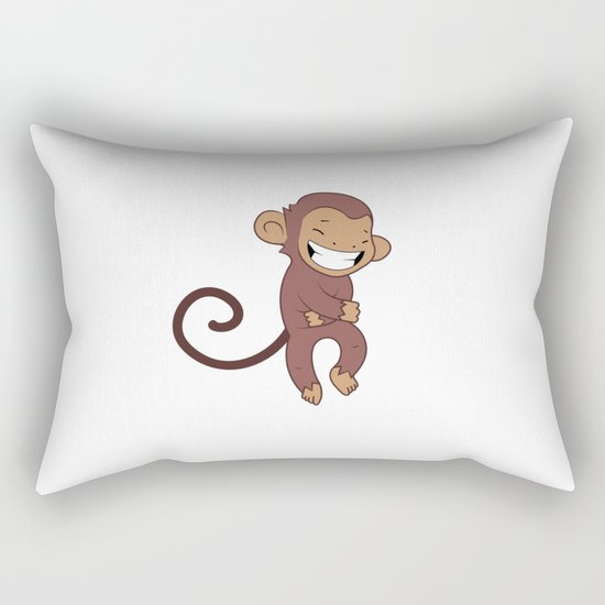 Laughing monkey Rectangular Pillow